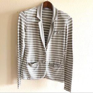 TART || Stripe Button Blazer